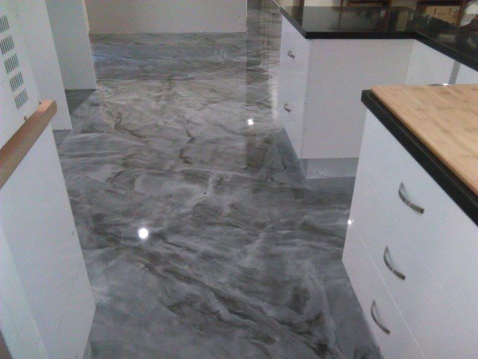 Epoxy Coated Kitchen Flooring Glen Alpine